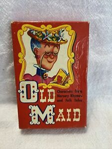 Vintage Old Maid Card Game EE Fairchild, Rochester, NY Complete! Nursery Rhymes