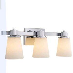 Home Decorators Collection 3-Light Chrome Bath Vanity Light
