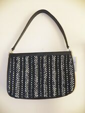 THE SAK ELLIOTT LUCCA Black & White Crochet Knit Handbag Purse