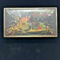 Park & Tilford Vintage candy cookie tin New York and Paris Black & Gold