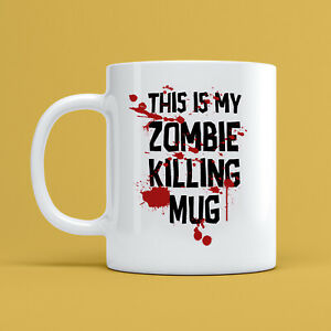This Is My Zombie Killing Mug Joke Novelty Funny 10oz Ceramic Coffee Tea Cup