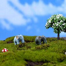 2pcs Miniature Dollhouse Bonsai Fairy Garden Micro Landscape Elephant DecorEC