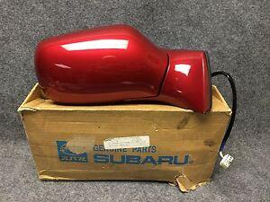 1992-1993 Subaru SVX RH Power Side View Mirror 91031PA020RF Mica Ruby OEM 28441