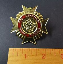OLD Vintage Fire Department Service - Badge -  D'Incendie - Ontario Canada
