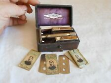 vintage safety razor Gillette E series WW1 G stamp officers 1 Guinea ltd license