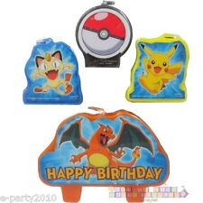 POKEMON Pikachu & Friends MINI CANDLE SET (4) ~ Birthday Party Supplies Cake
