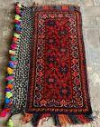 Hand Woven Made Vintage Afghan Salt Bag / Pillow Cover Area Rug 4 x 2 Ft (22089)