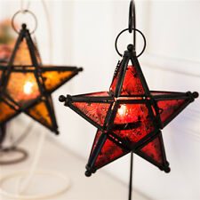 Moroccan Star Home Garden Lamps Hanging Tea light Candle Holders Lanterns