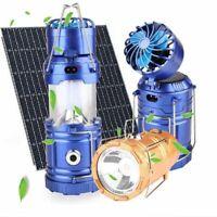 Solar Panel Fan Camping Lantern Outdoor Multi-Function Tent Led Lamp Flashlights