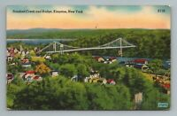 Rondout Creek Bridge Kingston River New York NY Postcard