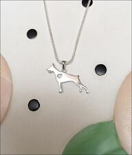 Doberman Pinscher Sterling Silver Charm Necklace - New - Free Shipping