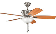 """Antique Pewter 52"""" Ceiling Fan With Light Kit"""