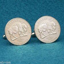 2005 Buffalo Nickel Cufflinks, USA American Bison Coin