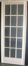 Hickory 15 Lite Interior French Door (true Divided Lite) w/flat clear temp glass