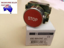 """RED """"STOP""""  MOMENTARY FLUSH  PUSHBUTTON  22mm   XB2BA4342"""