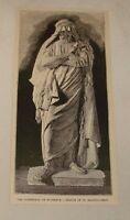 1887 magazine engraving~STATUE OF ST BATHOLOMEW, Florence, Italy