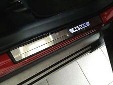 Toyota RAV4 2013-UP OEM LED light door sill plate stainless steel enhancement