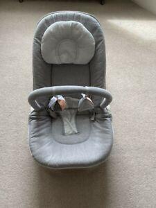 Mamas & Papas Wave Rocker Baby Bouncer Chair, Grey Melange - excellent condition