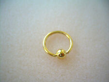 "14K Gold Plated Captive Bead Ring 14g  1/2"" Ear Lip Nipple 4MM Ball"