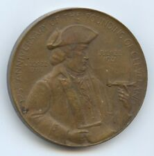 Exonumia 1921 Founding of Clev. Oh Medal (#8813). Very Thick Medal. 50Mm.