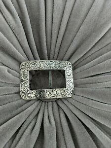 Antique Vintage 1900 Buckle Sash Clasp Large Art Nouveau Edwardian Ladies Belt Buckle Gunmetal /& Rhinestones