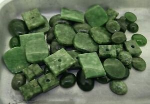 mixed Nephrite Jade 219.56ct natural loose gemstones