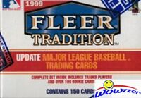 1999 Fleer Tradition Baseball Update Factory Sealed 20 Box Set CASE!