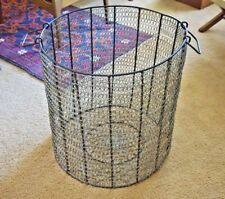LG metal laundry basket storage handmade coil sides welded metal woven 19x20.5