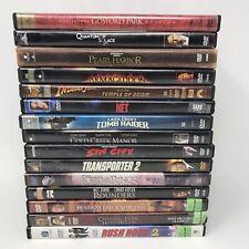 Dvd Lot of 15: Action Adventure Thriller - Sin City, Tomb Raider, Indiana Jones
