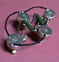 USA Les Paul 50s PIO Wiring Harness Paper In Oil Cap PreWired Bourns Woman Tone
