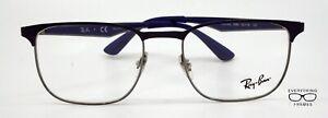 Ray Ban RB6363 2889 SHINY BLUE/GUN METAL Eyeglasses New Authentic 52