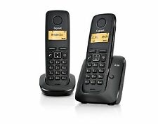 Gigaset A120 Twin DECT Cordless Phone Set - Black