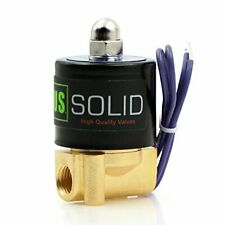 14quot NPT Brass Electric Solenoid Valve 12VDC Normally Closed VITON Standard US