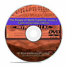 North Carolina NC Vol2 People Family Tree History Genealogy 68 Books DVD CD B46