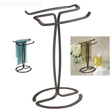 Fingertip Hand Towel Rack Holder Free Standing Bathroom Counter Vanities Bronze