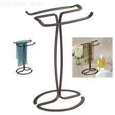 Fingertip Hand Towel Rack Holder Free Standing Bathroom Counter Vanities Bronze