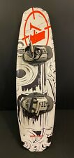 AIRHEAD ROCKABILLY 141cm WAKEBOARD / AIRHEAD GRIND BOOTS WHITE BLACK RED
