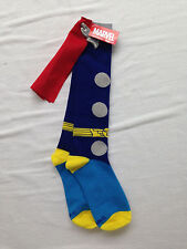 Marvel Super Hero Knee Socks - Thor with Wings and Cape - Ladies Sz 4-10 - NWT