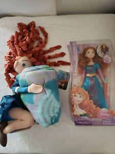 Disney Princess Colorful Curls Merida w/ Merida Plush and Blanket