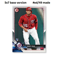 RAUDY READ Nationals RC #20  -  5x7 Base Version #ed/49 made 2018 Topps Bowman