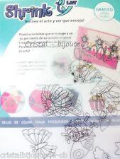 ♥ MAGIC SHRINK. PLASTICO MAGICO HORNEABLE. translucido con dibujos din A4♥
