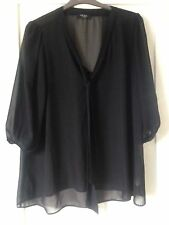 George Polyester V Neck 3/4 Sleeve Tops & Shirts for Women