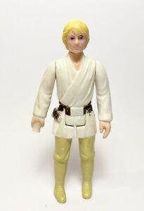 LUKE SKYWALKER Yellow Pants Vintage Star Wars Figure Original No Saber 1977 HK