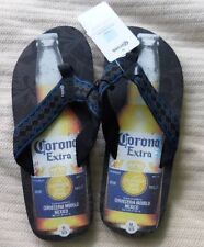Corona Extra Bottle Men's Flip Flop Sandals Shoes Black XL 12/13 NWT MSRP