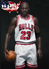 "1/6 Michael Jordan White Chicago Bulls Jersey 23 For 12"" Enterbay Hot Toys ❶USA❶"
