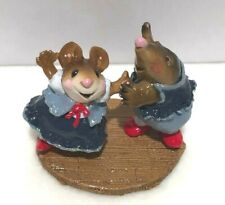 Wee Forest Folk Do-Si-Do Miniature Mouse & Mole First Edition Dancing 1999 Mmo-2