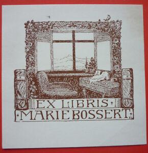 "Exlibris, Bookplate ""Marie Bossert"" Jugendstil, Stadt"