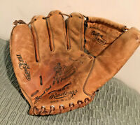 Young Adult Size Leather Glove Vintage 1950s1960s Mickey Mantle Rawlings Model MM5 Baseball Glove