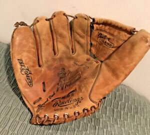 Vtg. 1960s Rawlings Mickey Mantle Pro MM5 Baseball Glove Left Hand Throw Comet