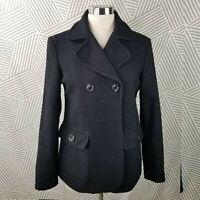 Gap Wool Coat Peacoat Size Medium jacket Career Winter Professional Black Womens